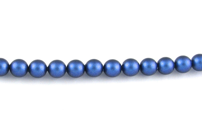 SWP015 - Iridescent Dark Blue Swarovski Pearls