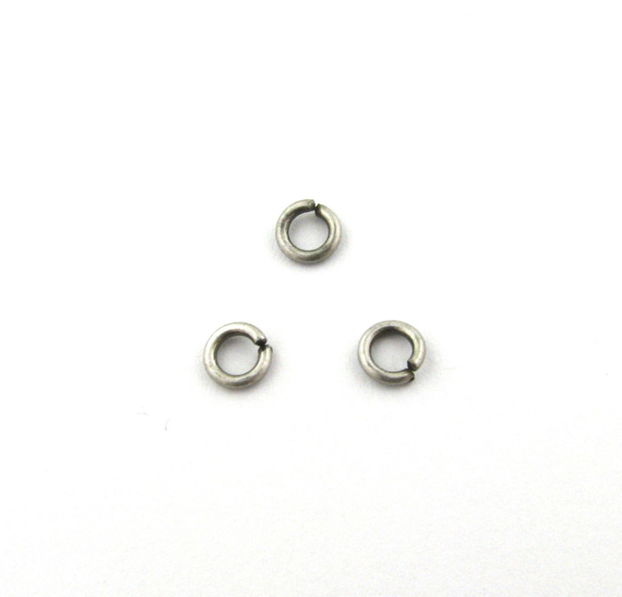 ASP001 - 4mm 18ga Open Jump Ring, Antique Silver Plated (pkg of 100)