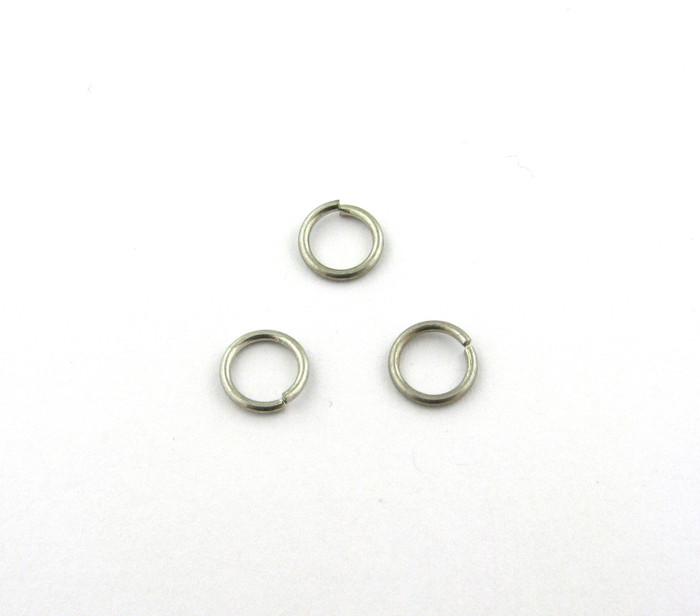 ASP003 - 8mm 18ga Open Jump Ring, Antique Silver Plated (pkg of 100)