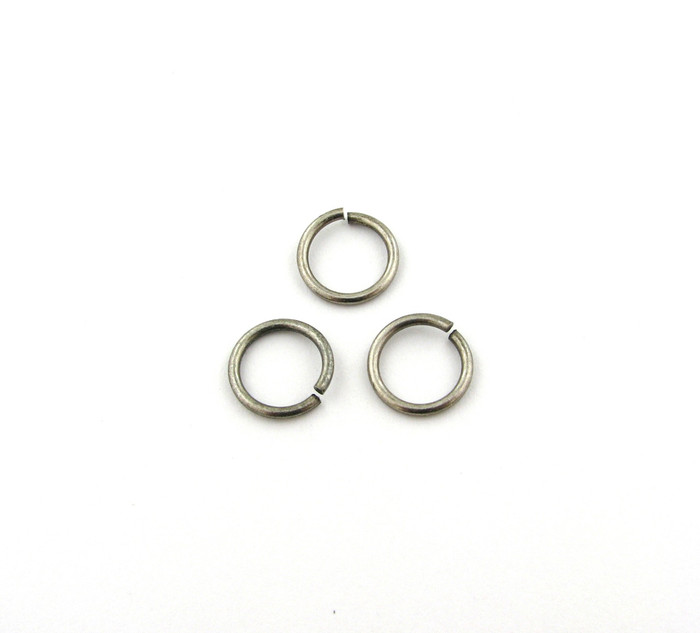 ASP005 - 12mm 15ga Open Jump Ring, Thick, Antique Silver Plated (pkg of 50)