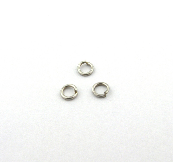 ASP006 - 4mm 21ga Open Jump Ring, Thin, Antique Silver (pkg of 100)