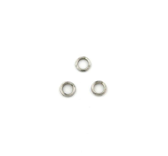 ASP010 - 6mm 18ga Closed Jump Ring, Antique Silver Plated