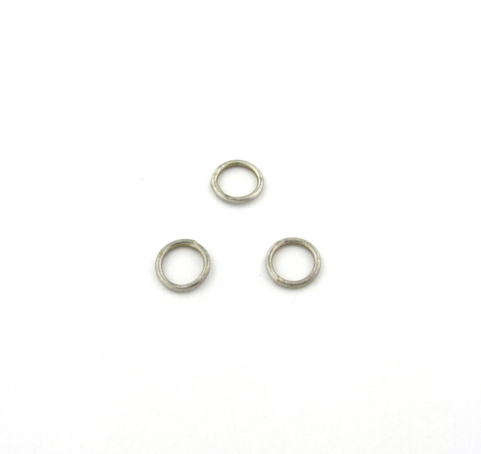 ASP011 - 8mm 18ga Closed Jump Ring, Antique Silver Plated (pkg of 50)