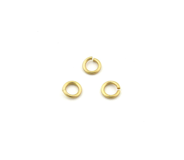 SHGP003 - 6mm 18ga Open Jump Ring, Satin Hamilton Gold Plated (pkg of 100)
