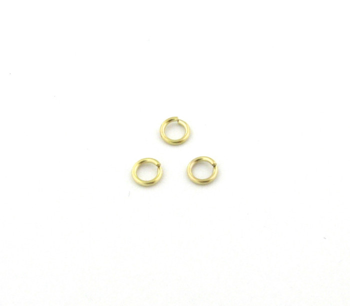 SHGP007 - 4mm 21ga Open Jump Ring, Satin Hamilton Gold Plated (pkg of 100)