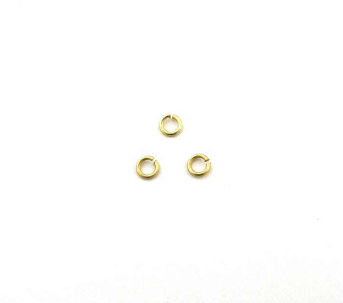 SHGP009 - 3mm 22ga Open Jump Ring, Satin Hamilton Gold Plated (pkg of 100)