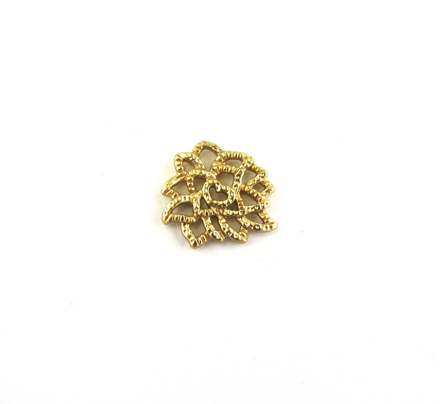 Satin Hamilton Gold 13mm Small Designer Connector (Sold by the Piece)