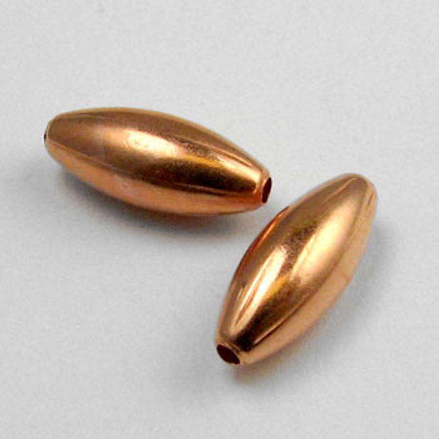 COP0009 - 4x9mm Melon Beads, Solid Copper (pkg of 50)