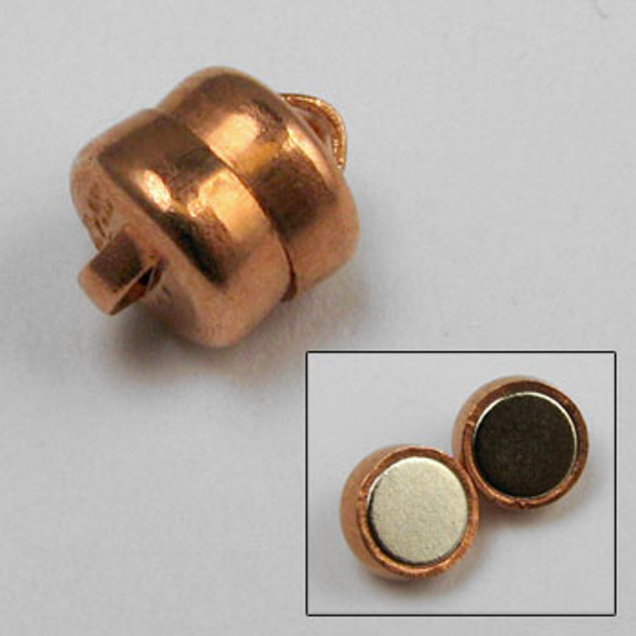 COP0040 - 6mm Magnetic Clasp, Copper Plated (pkg of 12)