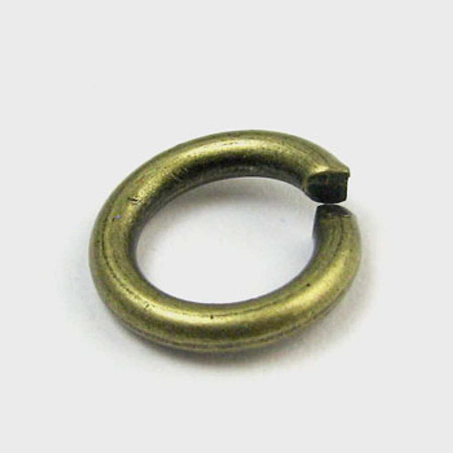10mm Open Jump Ring, Thick, Antique Brass Plated (pkg of 50)