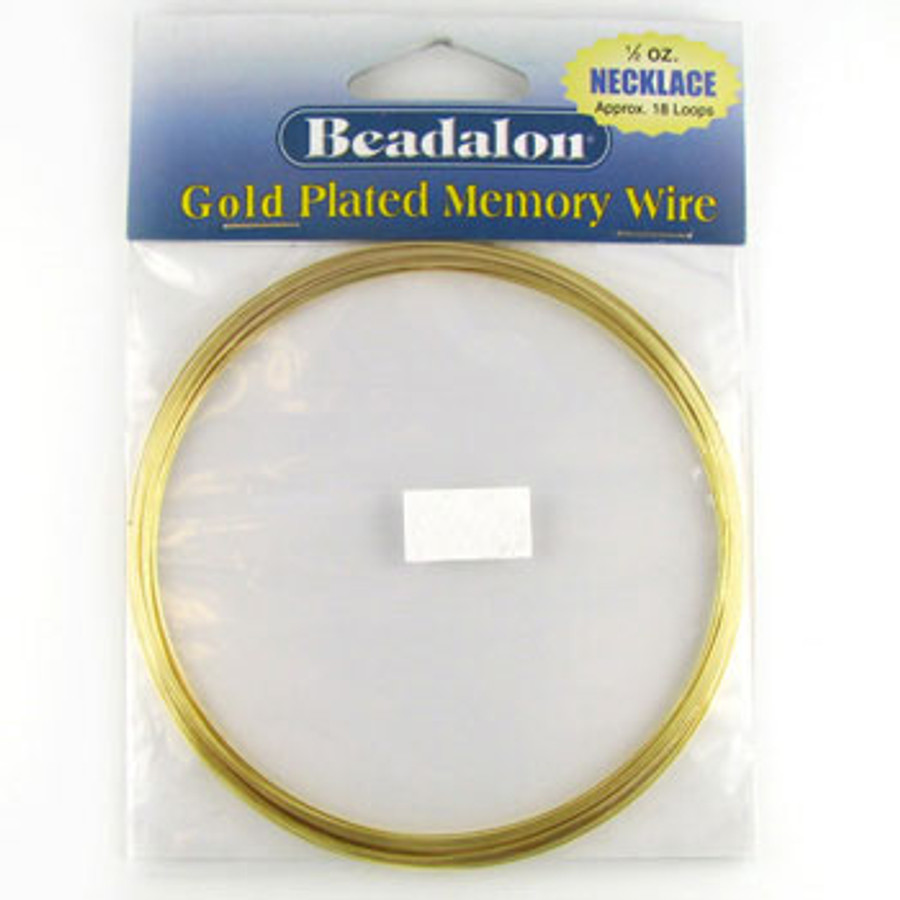 STR0041 - Gold, 18 loops, Necklace, Beadalon Gold Plated Memory Wire