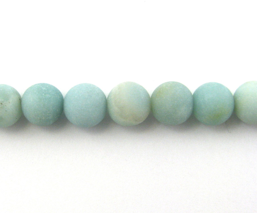 SPS0045 - Matte Amazonite, 4mm Round (16 in strand)