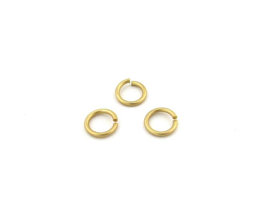 SHGP005 - 10mm 15ga Open Jump Ring, Satin Hamilton Gold Plated (pkg of 50)