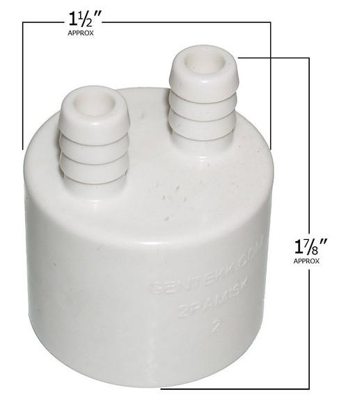 """6540-130 Sundance Spas Air Manifold: 2 Port, (0.375"""" Barb) x 1"""" Slip"""