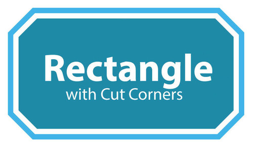 Rectangle with Cut Corners Spa Cover
