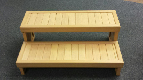 "36"" 2-Tier Synthetic Spa Step Birchwood"