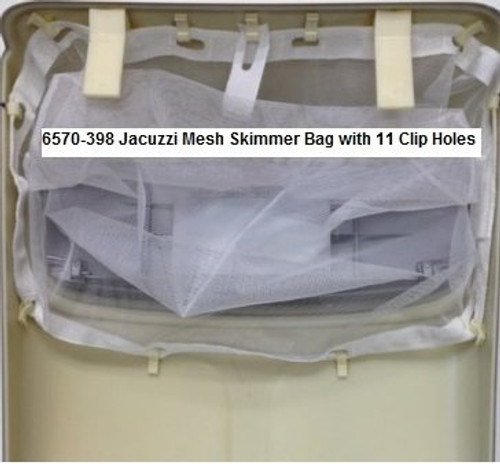 6570-398 Jacuzzi® Mesh Skimmer Bag with 11 Clip Holes - LOWEST PRICE