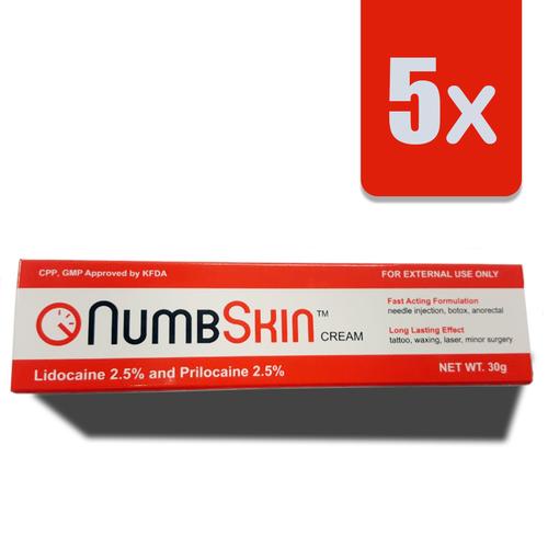5 x NumbSkin 2.5% + 2.5%