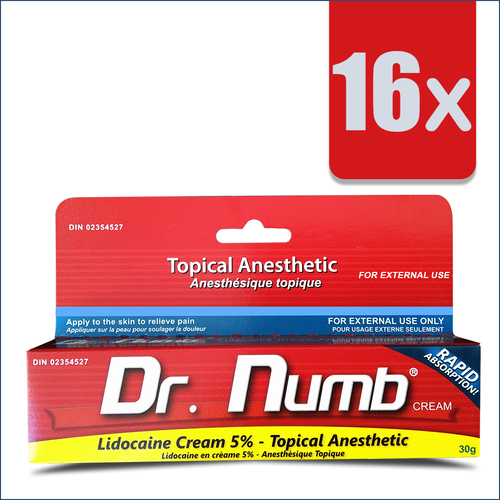 16 Tubes of Dr. Numb