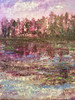 Reflections at Dusk #2 is an original mixed media painting on canvas.  30 x 40