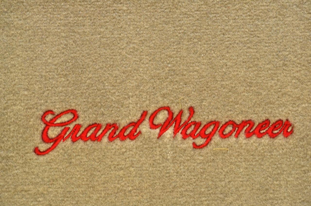 Floor Mat Set 4pc Carpeted Mats W Grand Wagoneer Logo