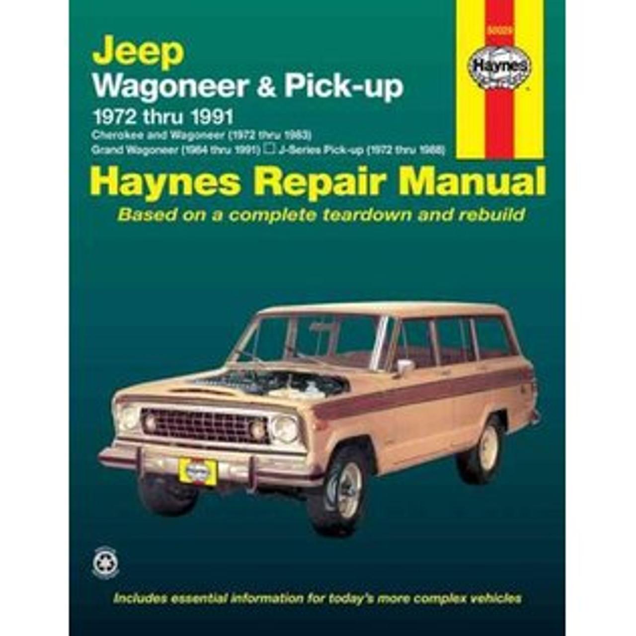 haynes repair manual jeep grand wagoneer j series trucks team rh teamgrandwagoneer com Jeep Cherokee Mods 2001 Jeep Cherokee XJ