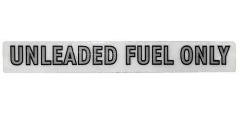 Unleaded Fuel Decal GW 1974-1988