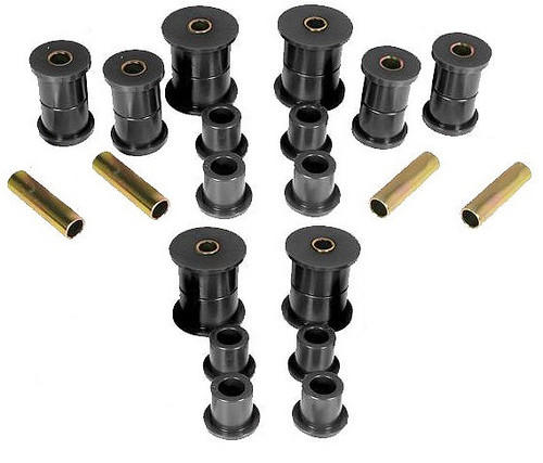 COMPLETE SHACKLE & SPRING POLY BUSHING SET