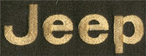 Floor Mat Set 4pc Carpeted Mats W/ A JEEP Logo 1973-1991