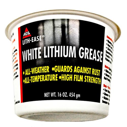AGS 16-OZ TUB WHITE LITHIUM GREASE LUBE # WL-15