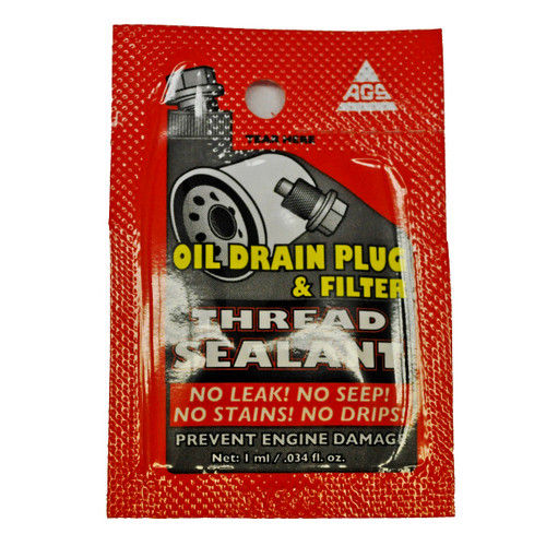 AGS Oil Drain Plug & Filter Thread Sealant Packet