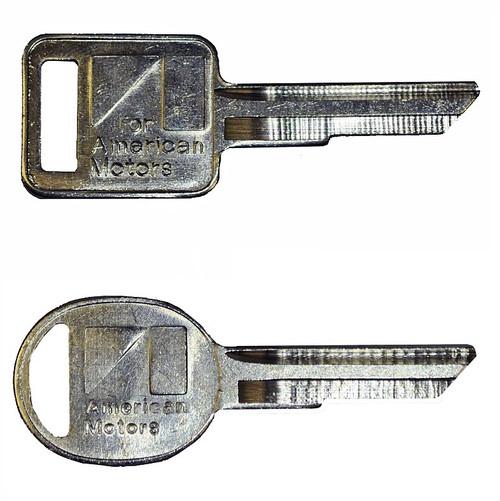 AMC Key Blank Set GW 1974-1984