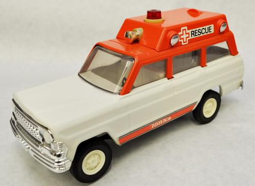 1970's Vintage Tonka Jeep Rescue Ambulance Toy