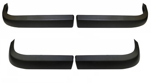 Front & Rear Bumper Complete 4 Piece Nerf Guard Set 1980-1991