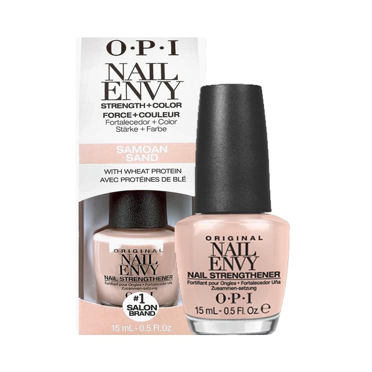 OPI NAIL ENVY | NAIL STRENGTHENER COLOR | SAMOAN SAND .5 OUNCE - MAX ...