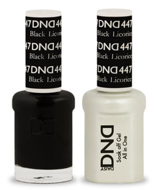 DND SOAK OFF GEL POLISH DUO   Black Licorice 447  