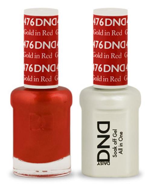 DND SOAK OFF GEL POLISH DUO | Gold In Red 476 |