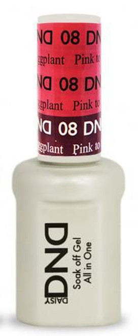 DND SOAK OFF GEL MOOD CHANGE | Pink To Eggplant 08 |