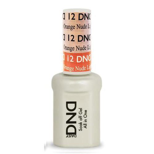 DND SOAK OFF GEL MOOD CHANGE | Light Pink To Orange Nude 12 |
