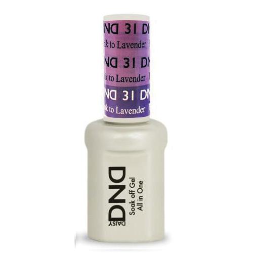 DND SOAK OFF GEL MOOD CHANGE | Purple Pink To Lavender 31 |