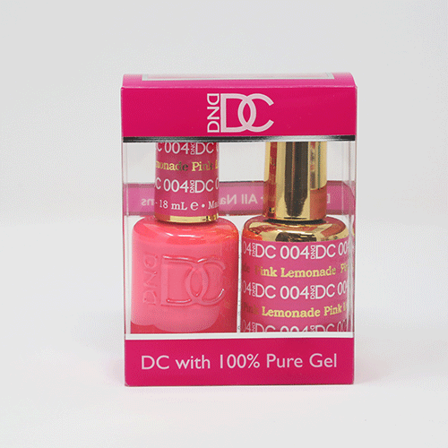 DND DC DUO SOAK OFF GEL AND LACQUER | 004 Pink Lemonade |