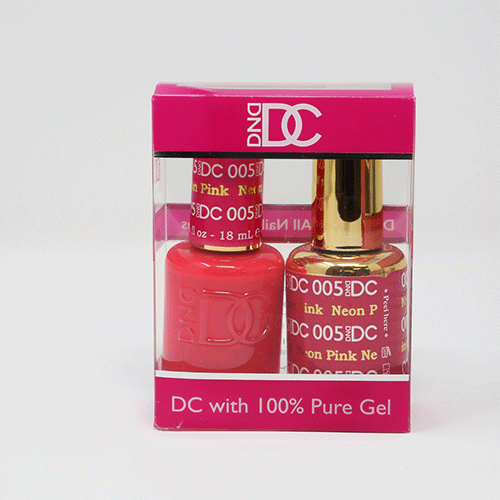 DND DC DUO SOAK OFF GEL AND LACQUER | 005 Neon Pink |