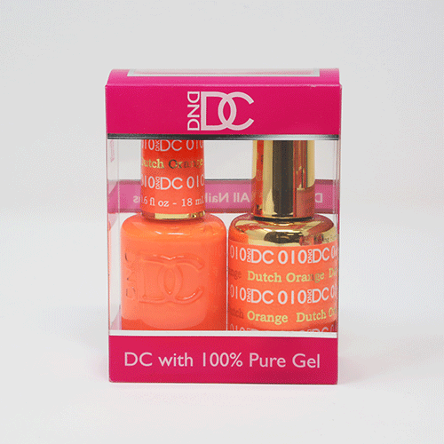 DND DC DUO SOAK OFF GEL AND LACQUER | 010 Dutch Orange |