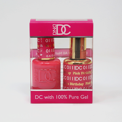 DND DC DUO SOAK OFF GEL AND LACQUER | 011 Pink Birthday |
