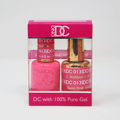 DND DC DUO SOAK OFF GEL AND LACQUER | 013 Brilliant Pink  |