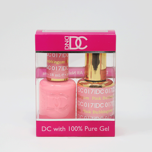 DND DC DUO SOAK OFF GEL AND LACQUER | 017 Pink Bubblegum  |