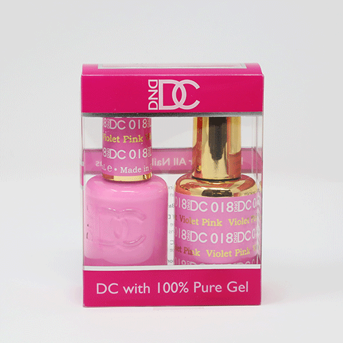 DND DC DUO SOAK OFF GEL AND LACQUER | 018 Violet Pink  |