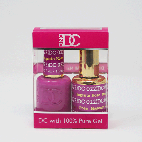 DND DC DUO SOAK OFF GEL AND LACQUER | 022 Magenta Rose |