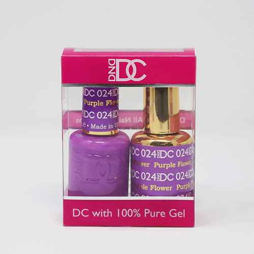 DND DC DUO SOAK OFF GEL AND LACQUER | 024 Purple Flower |