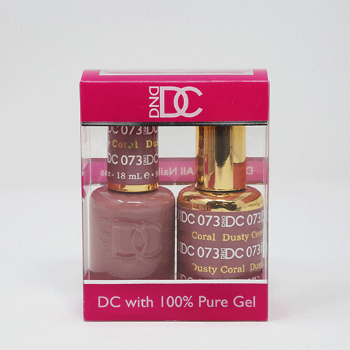 DND DC DUO SOAK OFF GEL AND LACQUER | 073 Dusty Coral  |